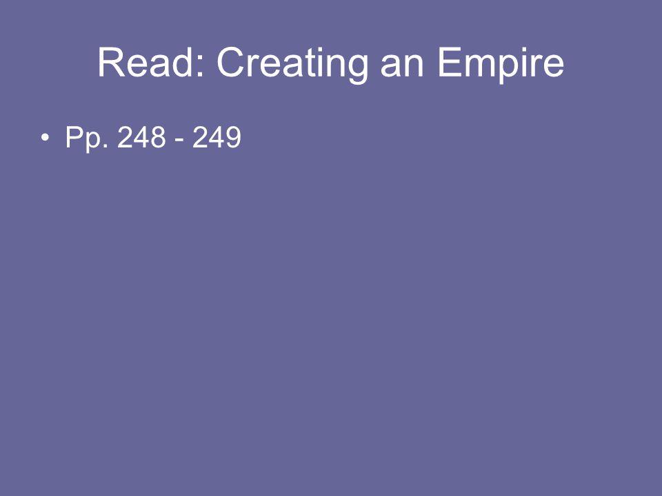 Read: Creating an Empire