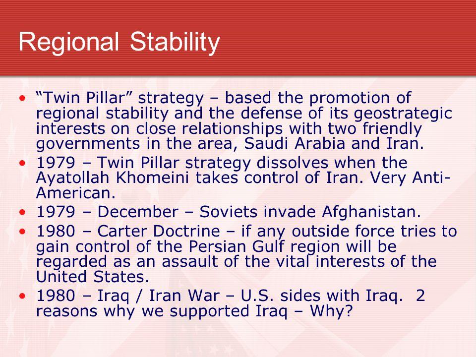 Regional Stability