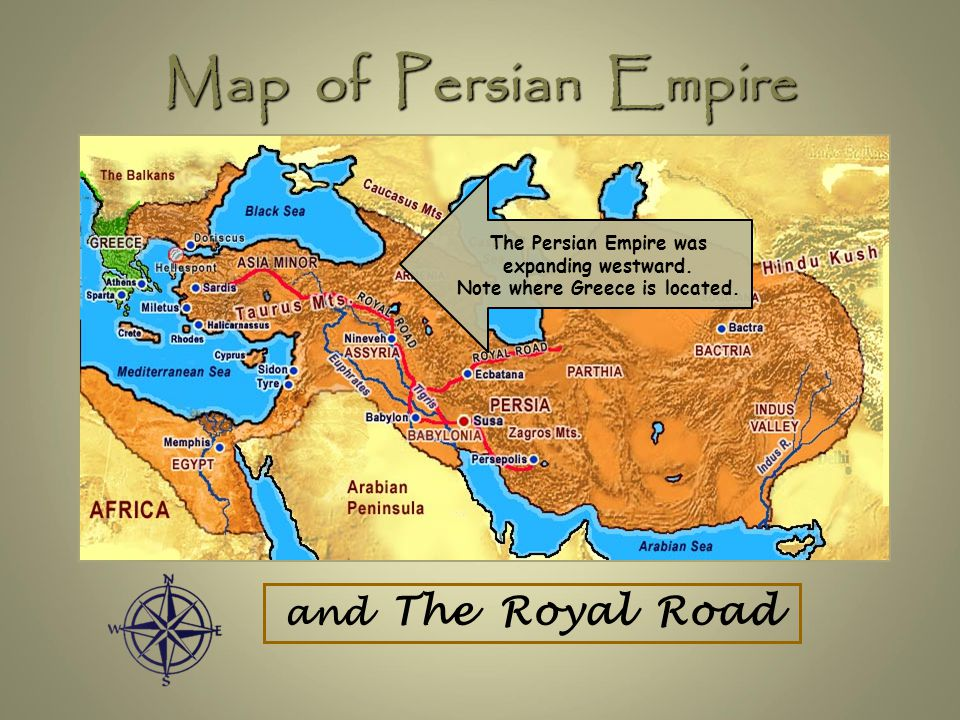 Map of Persian Empire and The Royal Road