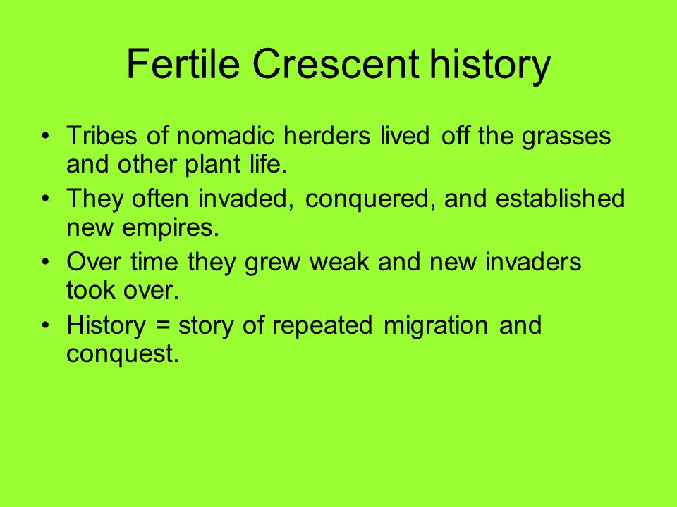 Fertile Crescent history