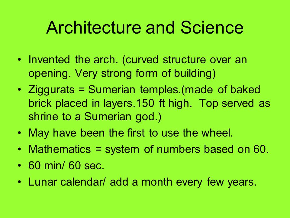 Architecture and Science