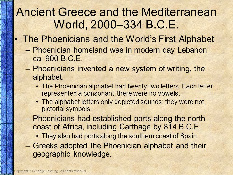 Ancient Greece and the Mediterranean World, 2000–334 B.C.E.