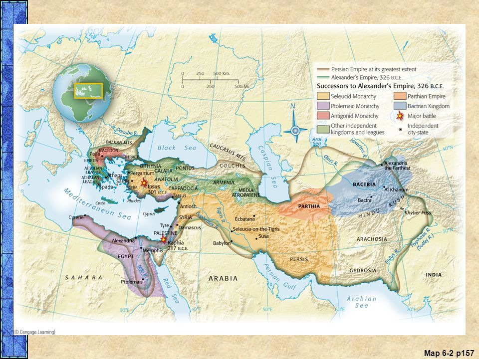 MAP 6.2 The Empires of Persia and Alexander the Great