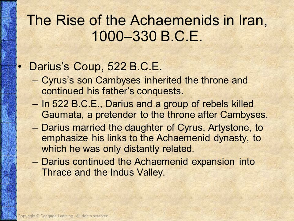 The Rise of the Achaemenids in Iran, 1000–330 B.C.E.