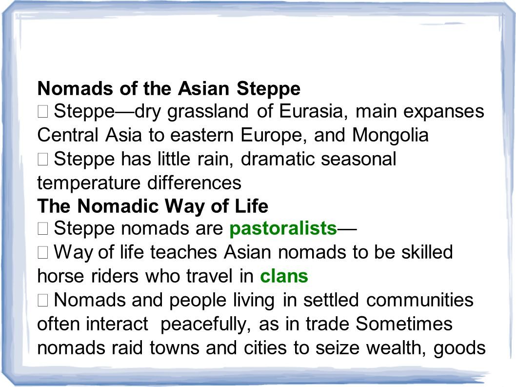 Nomads of the Asian Steppe