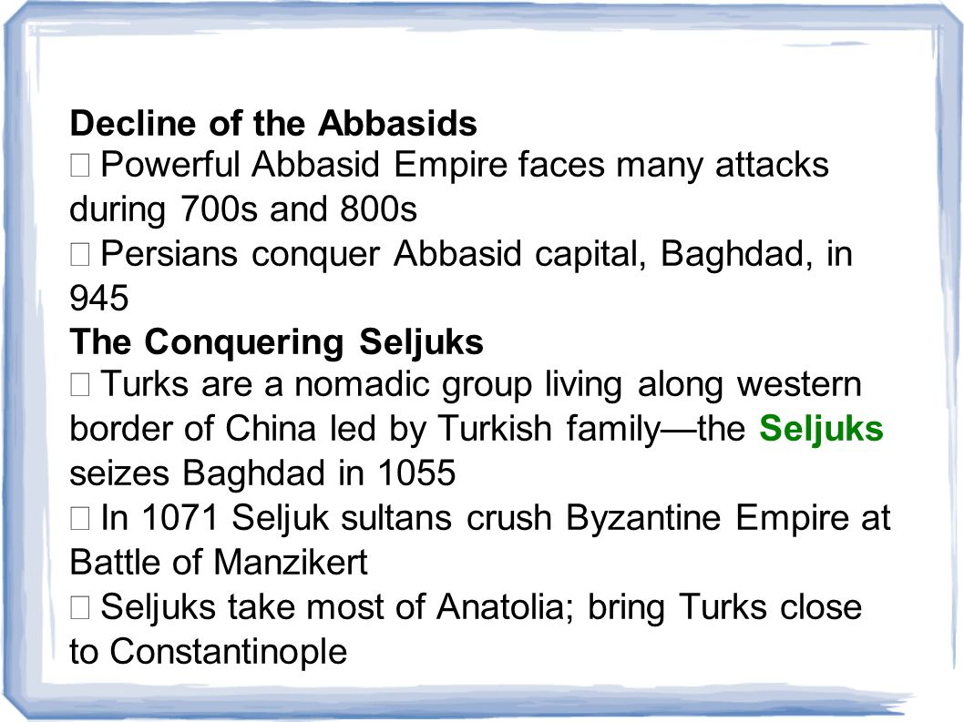Decline of the Abbasids