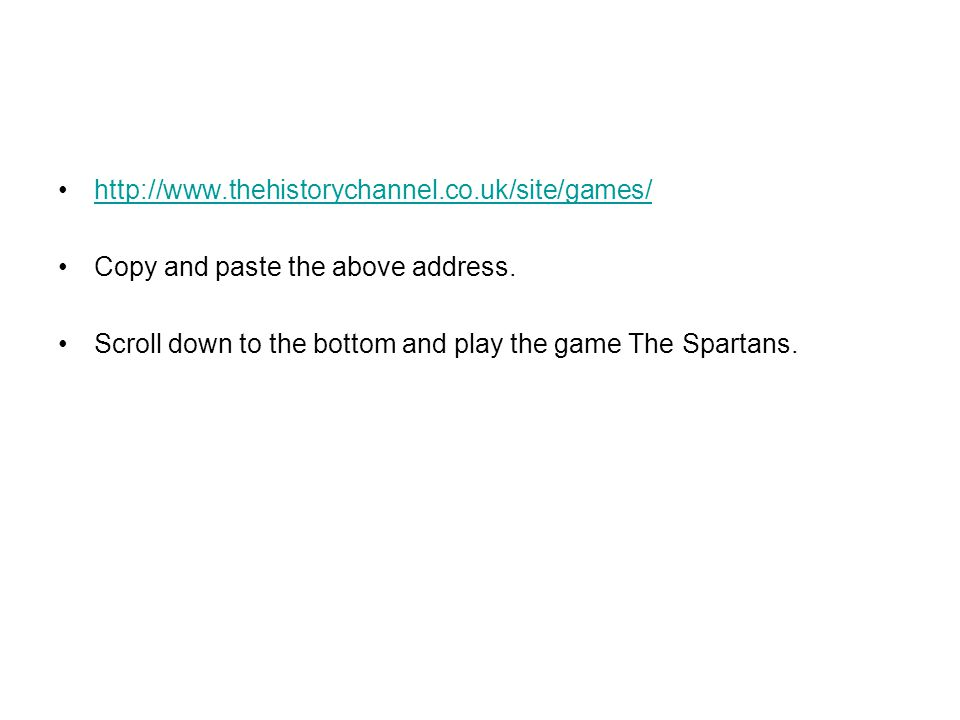 http://www.thehistorychannel.co.uk/site/games/ Copy and paste the above address.