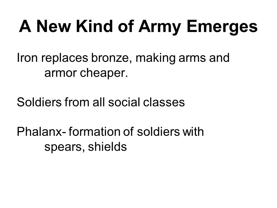 A New Kind of Army Emerges
