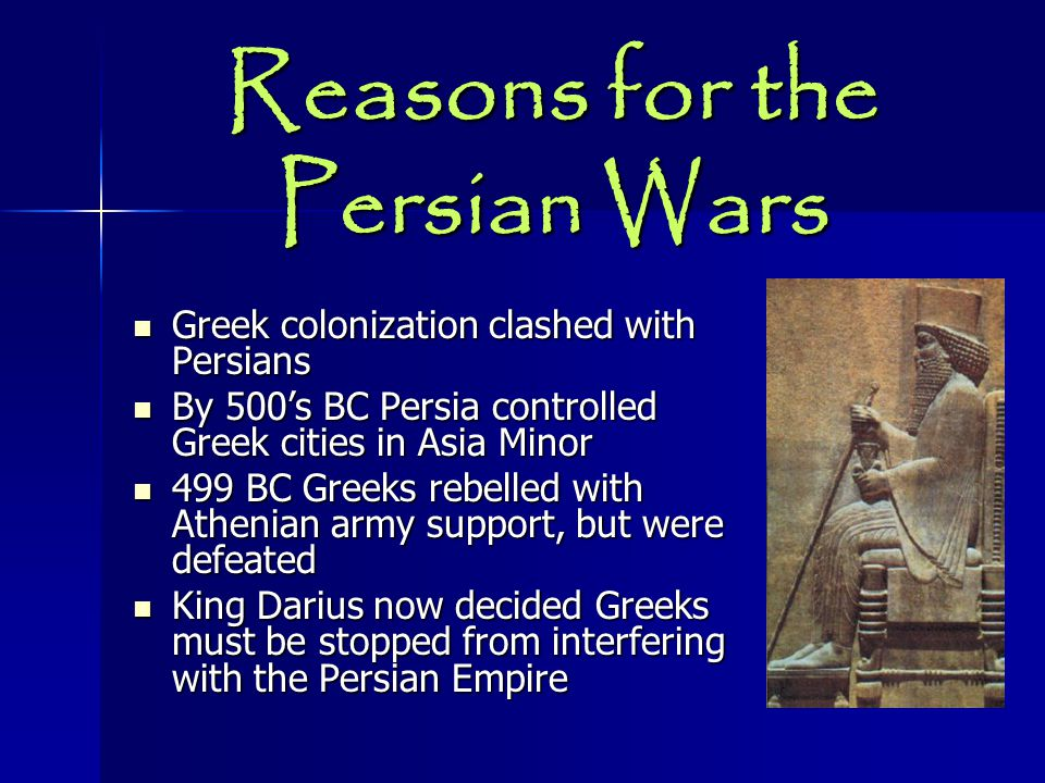 Reasons for the Persian Wars