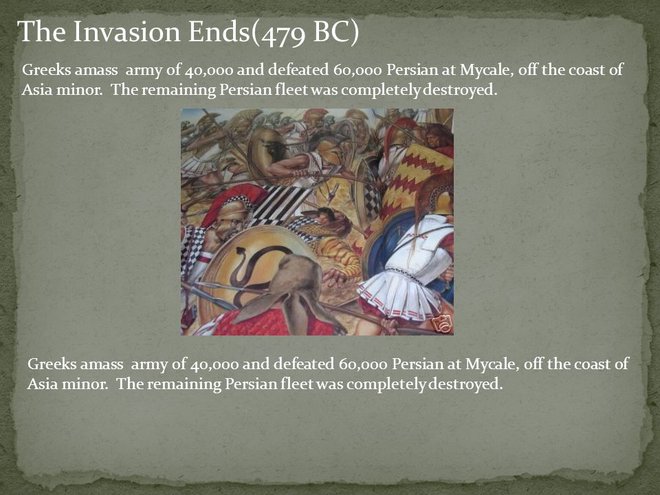 The Invasion Ends(479 BC)