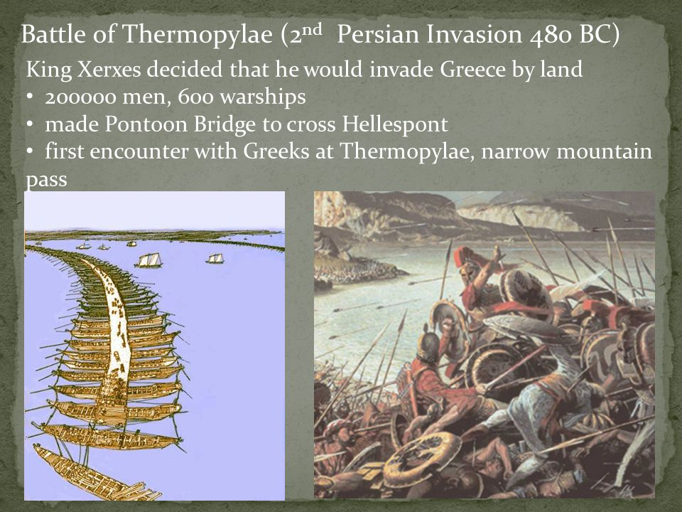 Battle of Thermopylae (2nd Persian Invasion 480 BC)