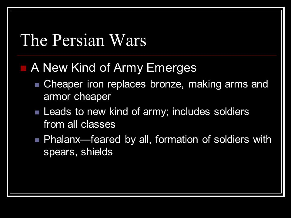 The Persian Wars A New Kind of Army Emerges