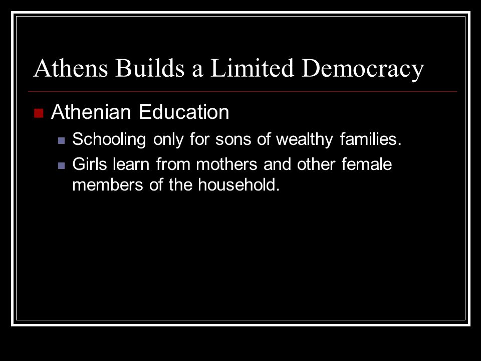 Athens Builds a Limited Democracy