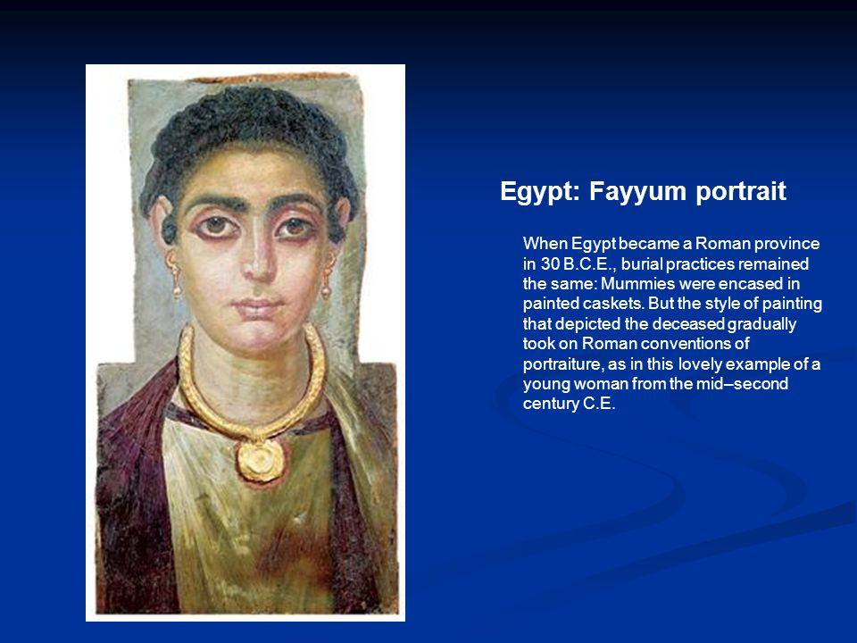 Egypt: Fayyum portrait