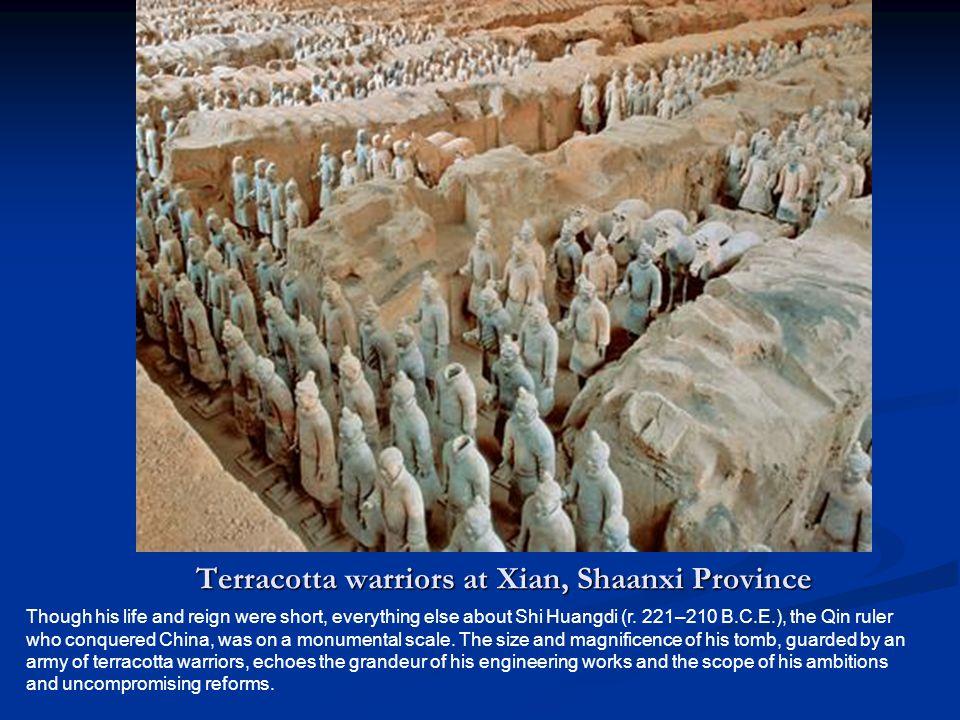 Terracotta warriors at Xian, Shaanxi Province