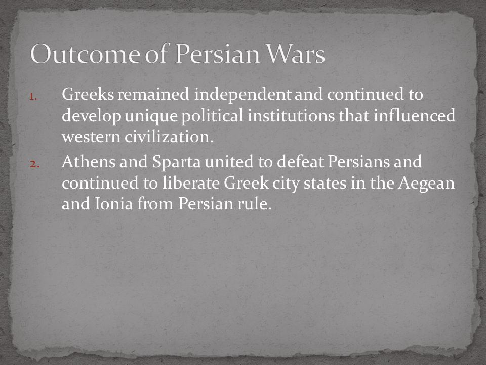 Outcome of Persian Wars