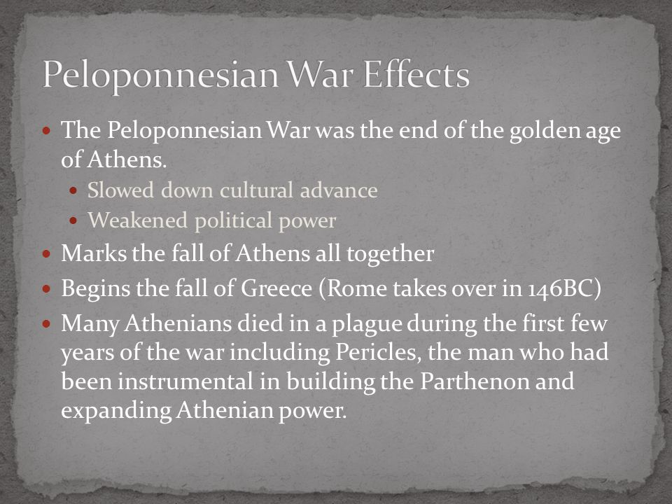 Peloponnesian War Effects