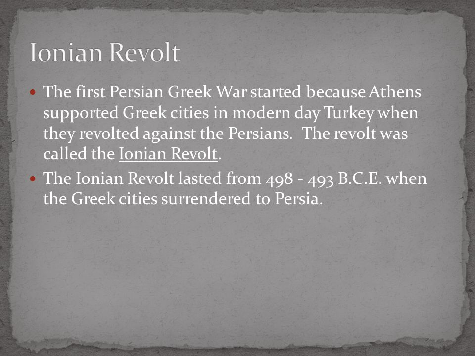 ionian revolt Read this article to learn about the six causes of the failure of the ionian revolt 1 the ionian revolt failed because the european and the asiatic greeks did not combine.