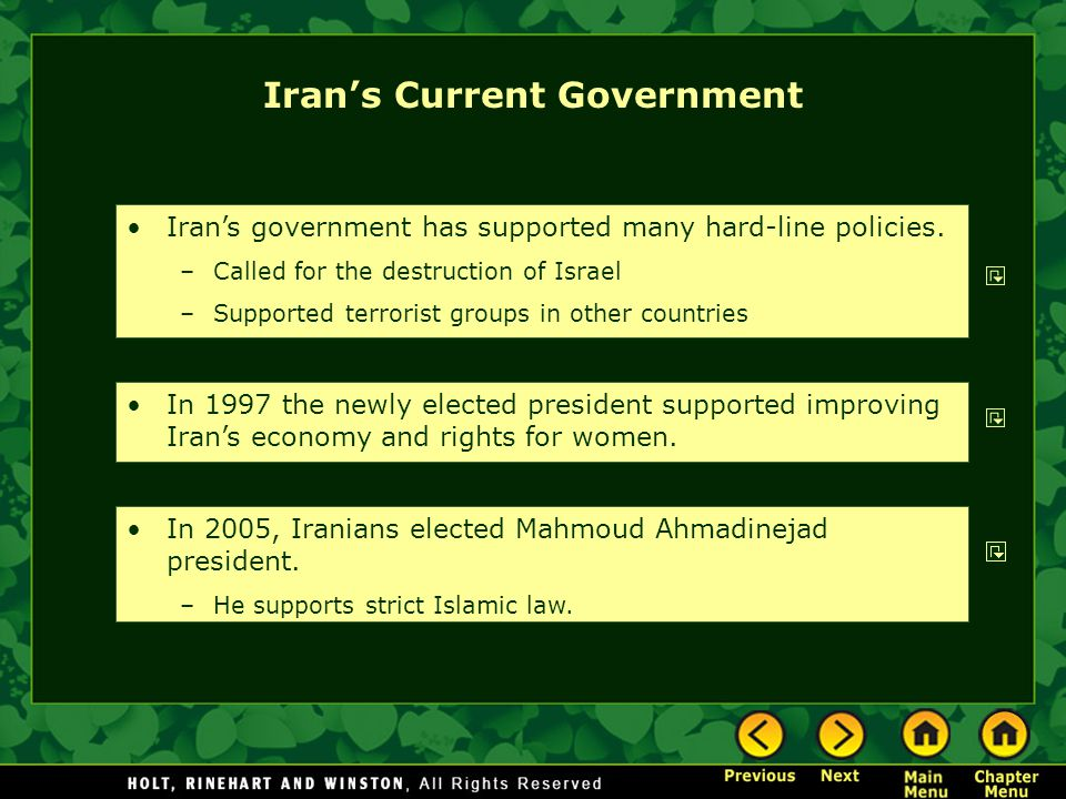 Iran's Current Government