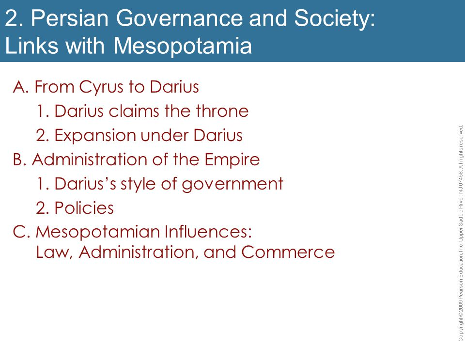 2. Persian Governance and Society: Links with Mesopotamia
