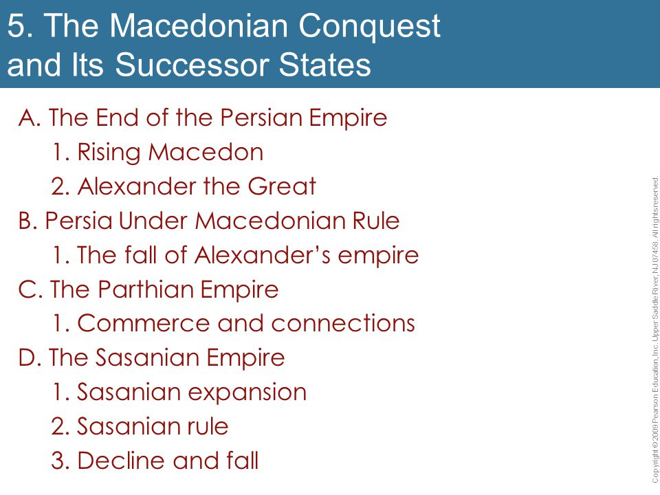 5. The Macedonian Conquest and Its Successor States