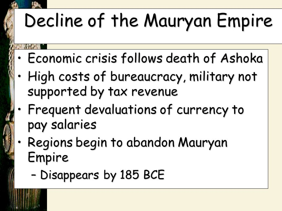 Decline of the Mauryan Empire