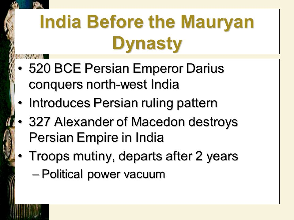India Before the Mauryan Dynasty