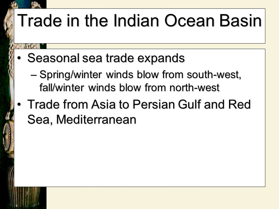 Trade in the Indian Ocean Basin
