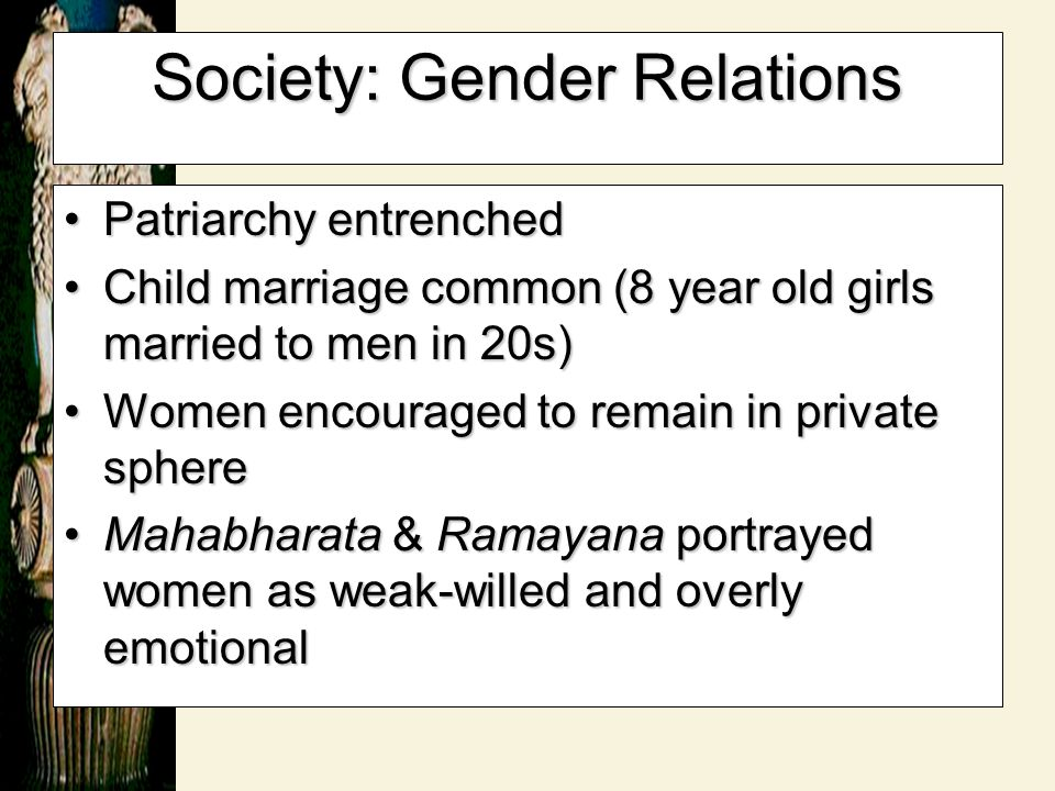 Society: Gender Relations