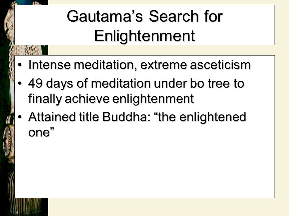 Gautama's Search for Enlightenment