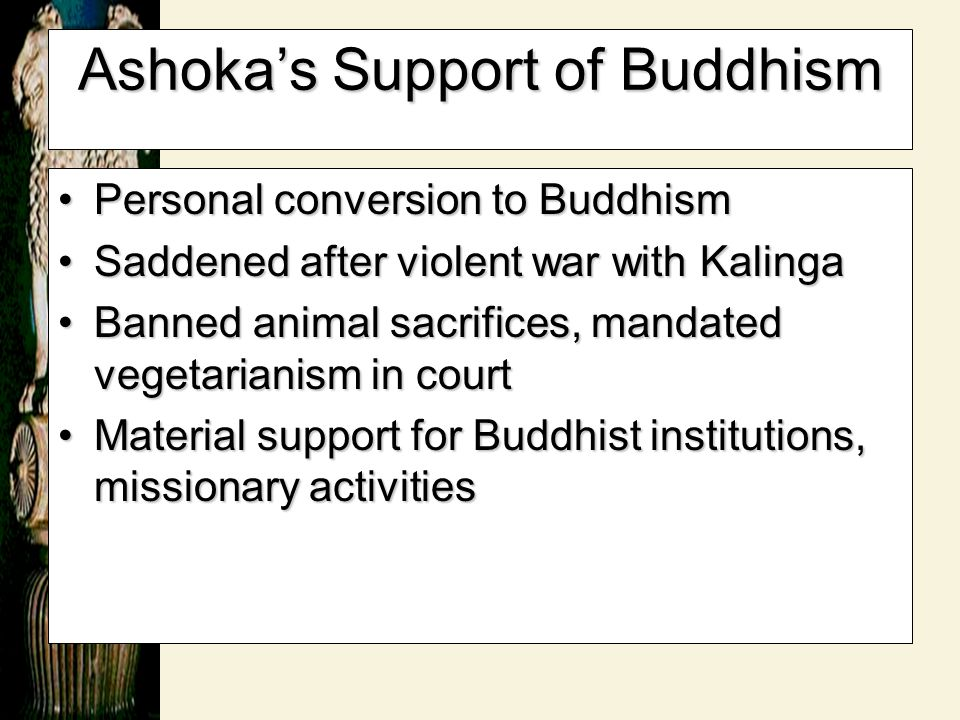 Ashoka's Support of Buddhism