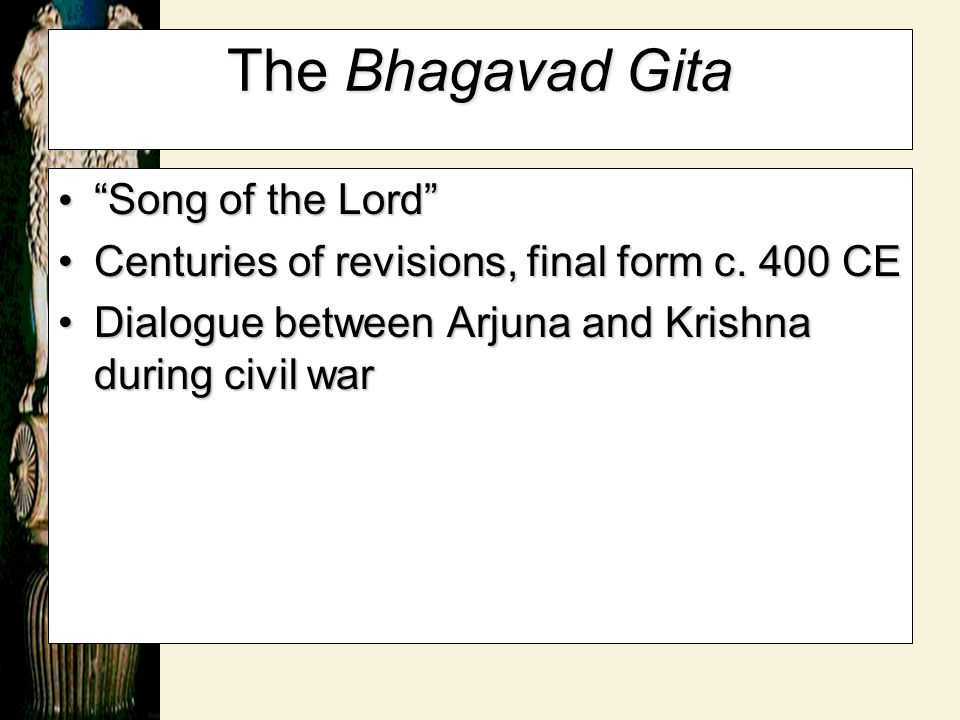The Bhagavad Gita Song of the Lord
