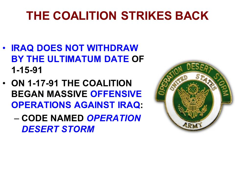 THE COALITION STRIKES BACK