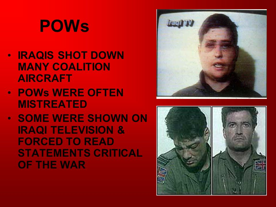 POWs IRAQIS SHOT DOWN MANY COALITION AIRCRAFT