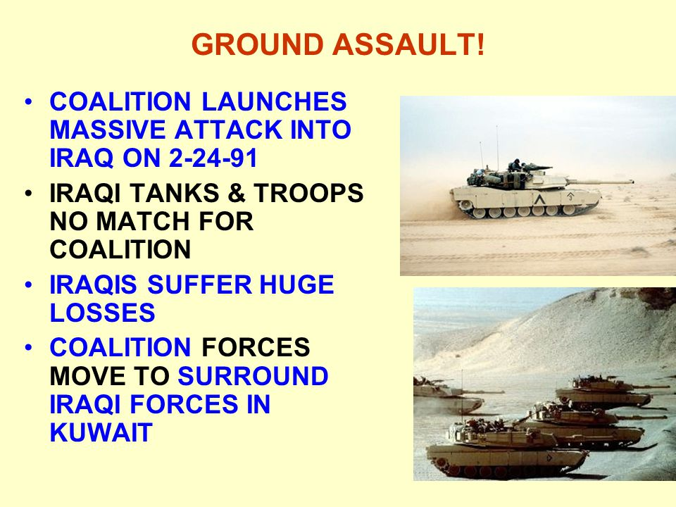 GROUND ASSAULT! COALITION LAUNCHES MASSIVE ATTACK INTO IRAQ ON 2-24-91