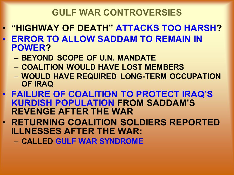 GULF WAR CONTROVERSIES
