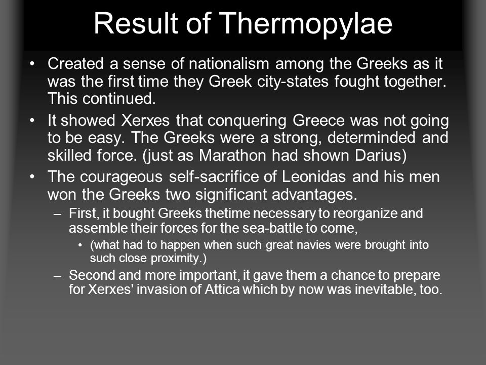 Result of Thermopylae