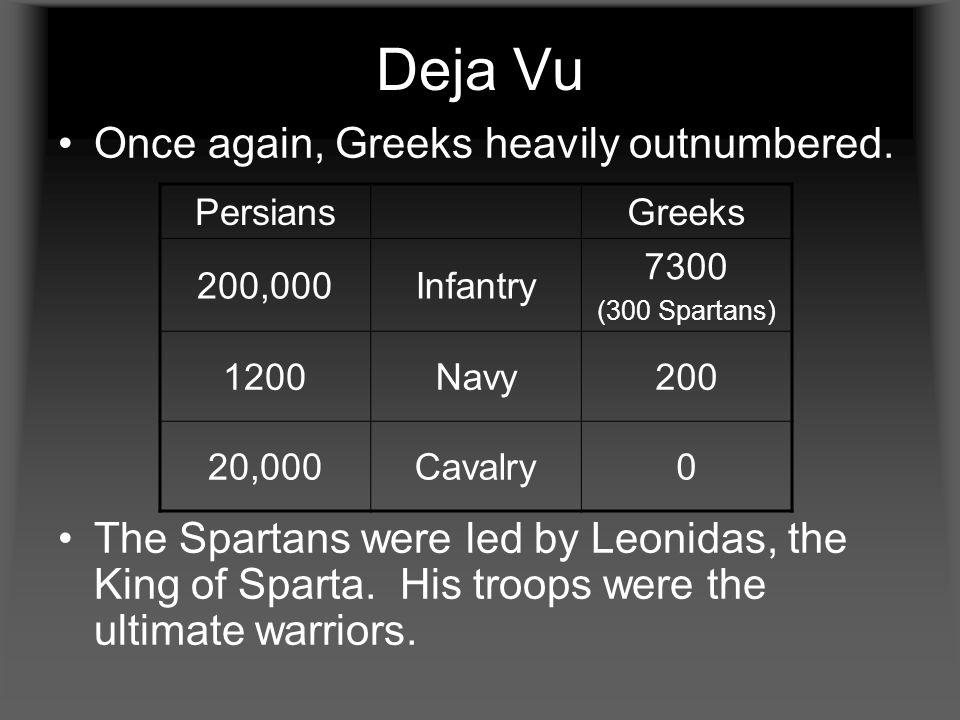 Deja Vu Once again, Greeks heavily outnumbered.