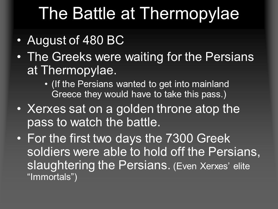 The Battle at Thermopylae