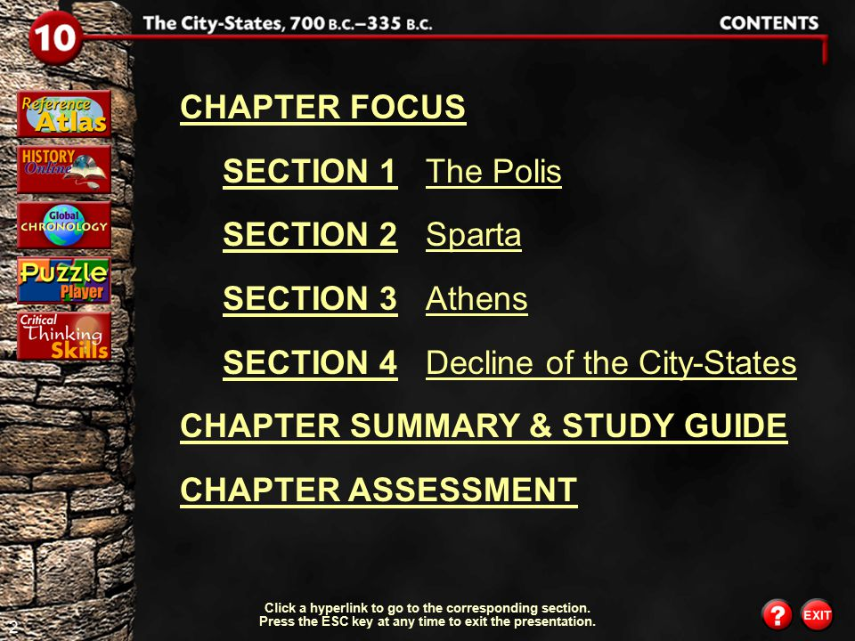 SECTION 4 Decline of the City-States CHAPTER SUMMARY & STUDY GUIDE