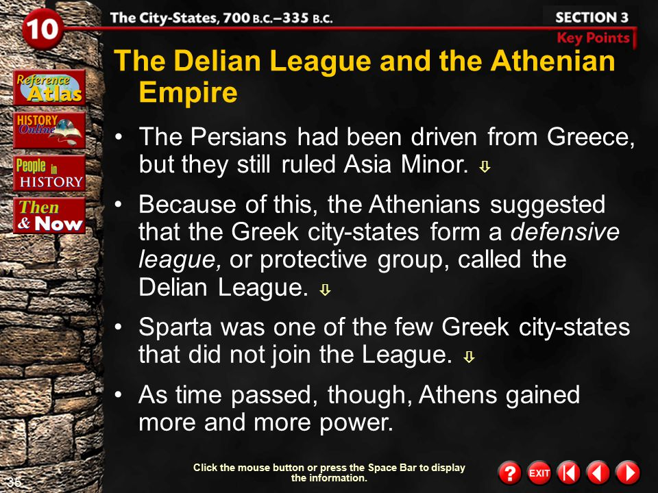 The Delian League and the Athenian Empire