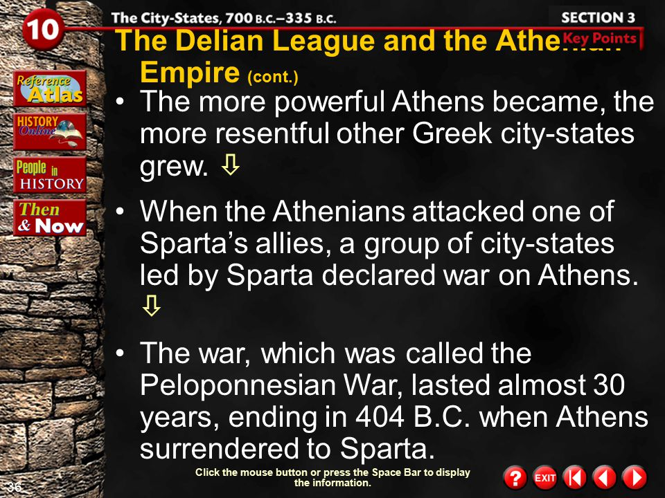 The Delian League and the Athenian Empire (cont.)