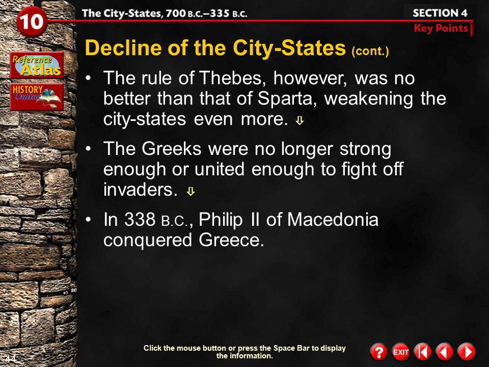 Decline of the City-States (cont.)