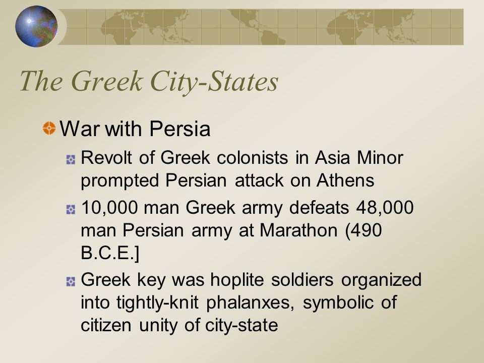 The Greek City-States War with Persia