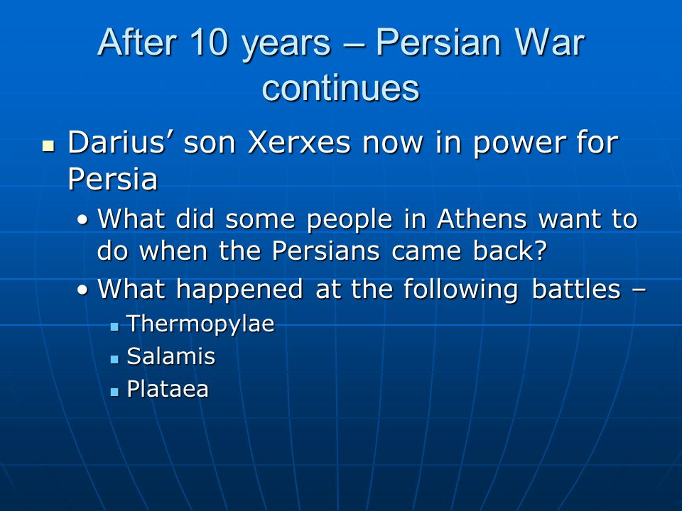 After 10 years – Persian War continues