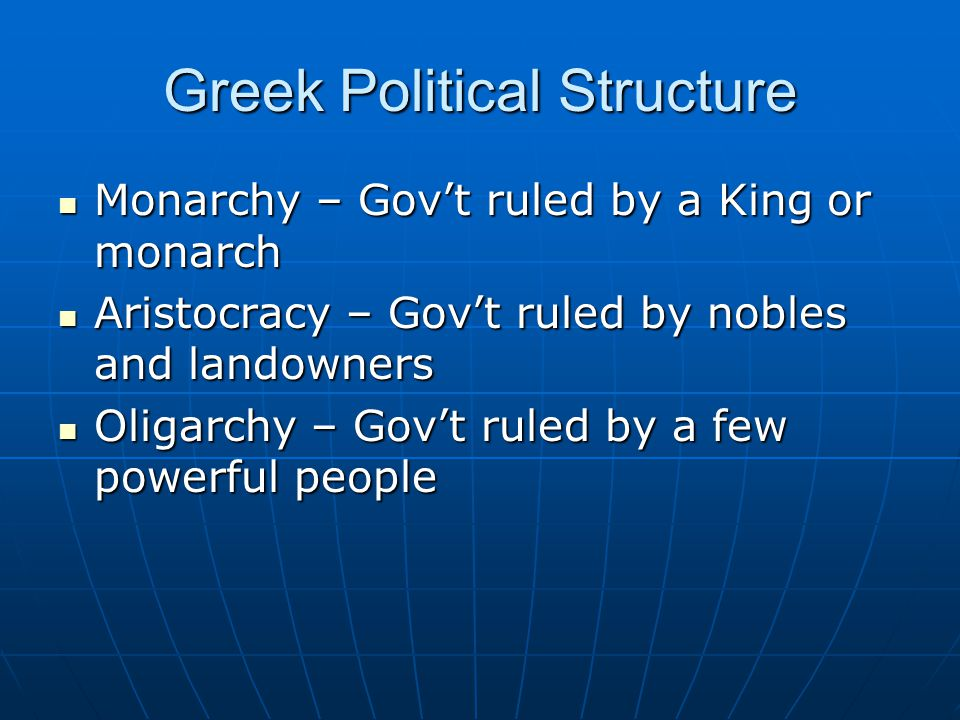 Greek Political Structure