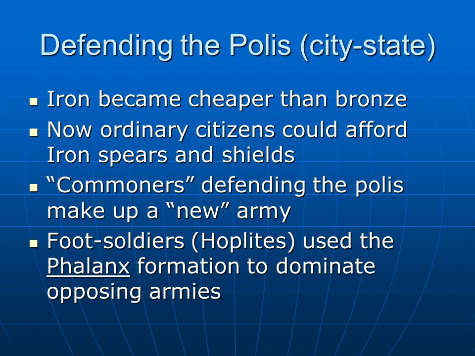 Defending the Polis (city-state)