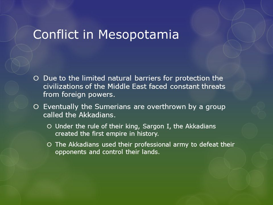 Conflict in Mesopotamia