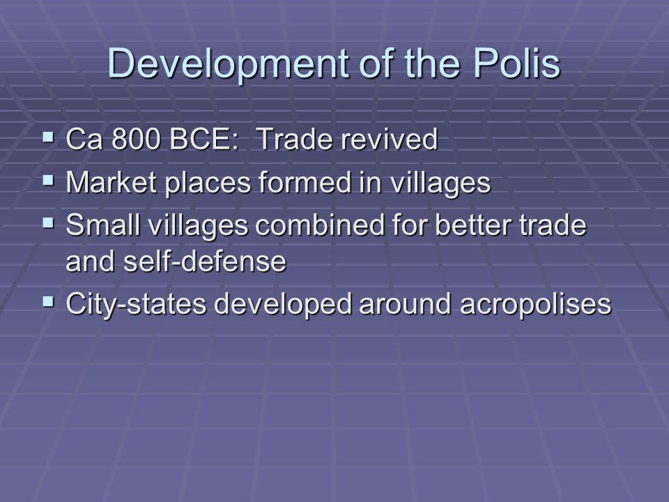 Development of the Polis