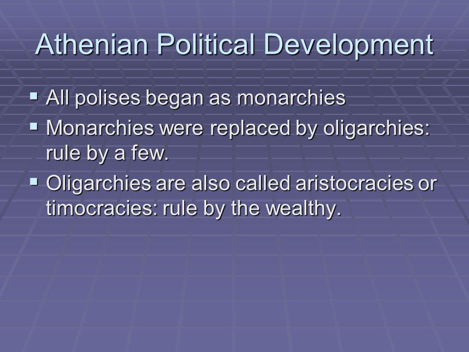 Athenian Political Development